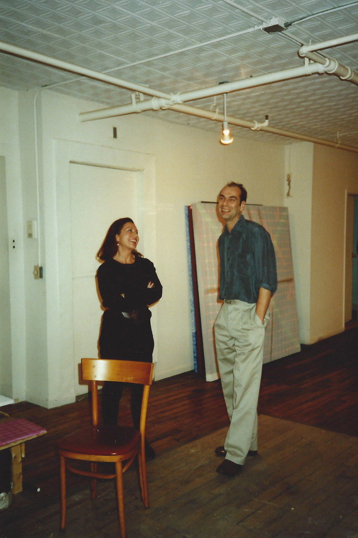 Christine and Michel Mouffe in New York 1991